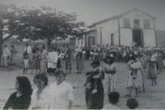 1940. LEANDRO FERREIRA. MG. PROCISSÃO COM A PRESENÇA DO SERVO DE DEUS